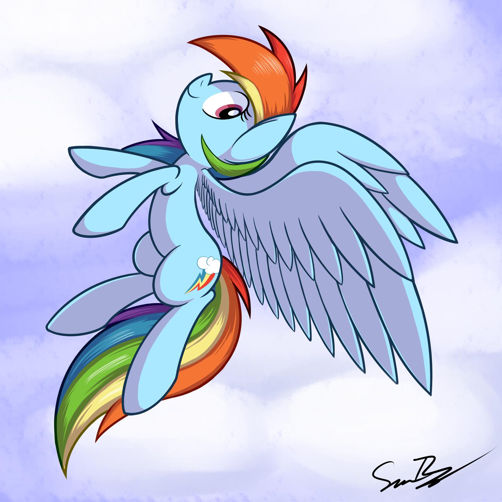 Dash Flying by sheandog