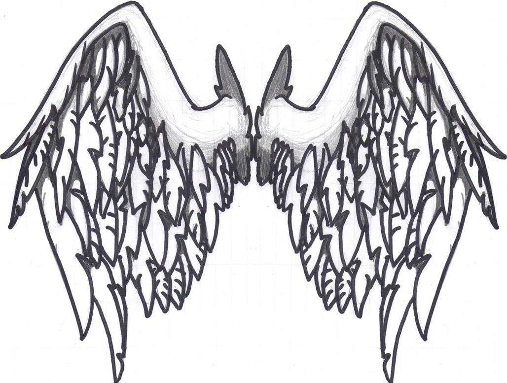 Tattoo wings by G1-Ratbat