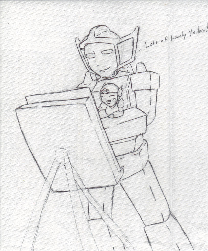 Just painting with little niece by G1-Ratbat