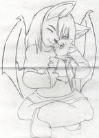 Fursona chibi hugging Drac by G1-Ratbat