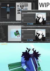 Ganz 3D anim WIP by 13-Lenne-13