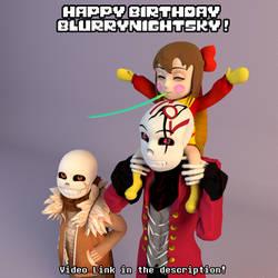 Happy birthday Blur! (Video link in description!) by 13-Lenne-13
