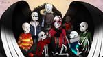 Huge Skeleton Hug Pile! by 13-Lenne-13
