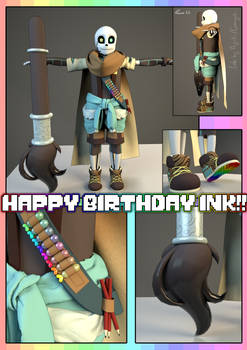 Happy Birthday Ink! (Ink 3D model)