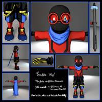 Template 3D model WIP