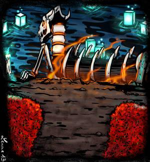 WIP Reaper papyru's boat.
