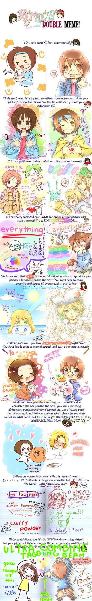 DOUBLENESSSS WITH NICA by temiji