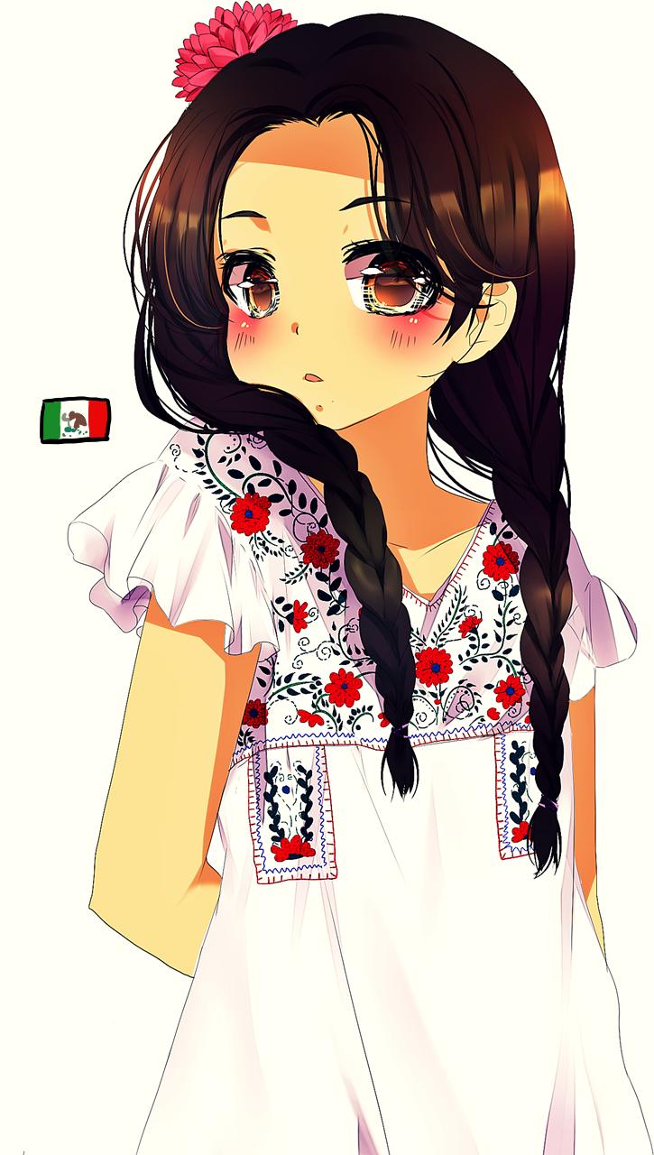 It is an image of Dashing Hispanic Girl Drawing