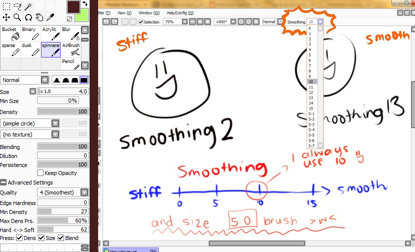 How To Draw Smooth Lines In Paint Tool Sai