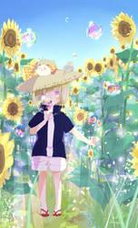 Bubbles+sunflower