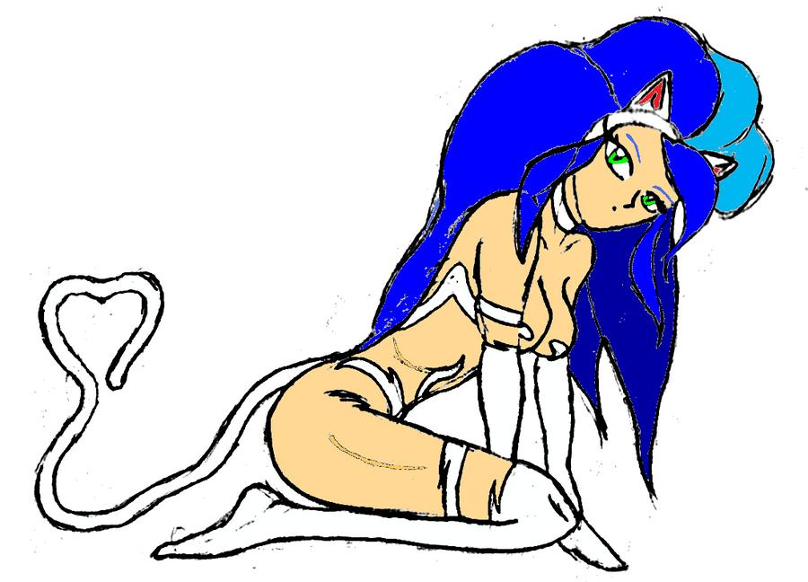 Felicia Kneeling by NekoHybrid