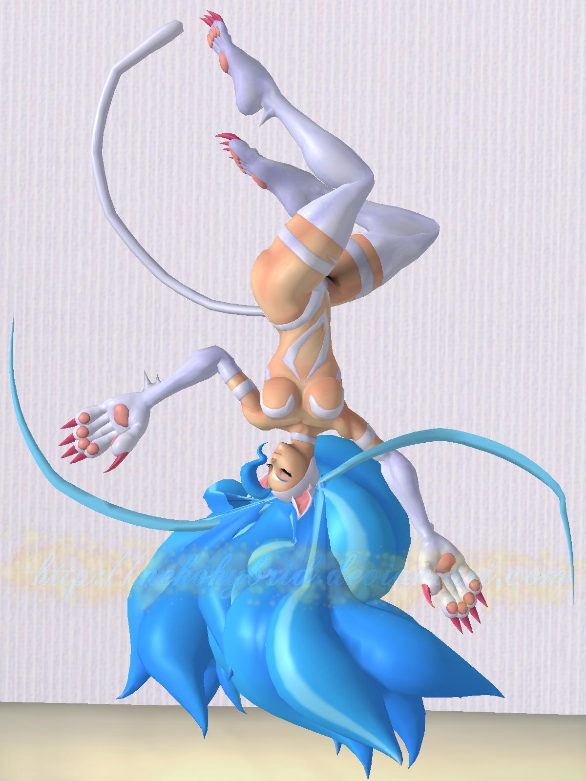 Felicia Sleeping Seductively 3.0 by NekoHybrid