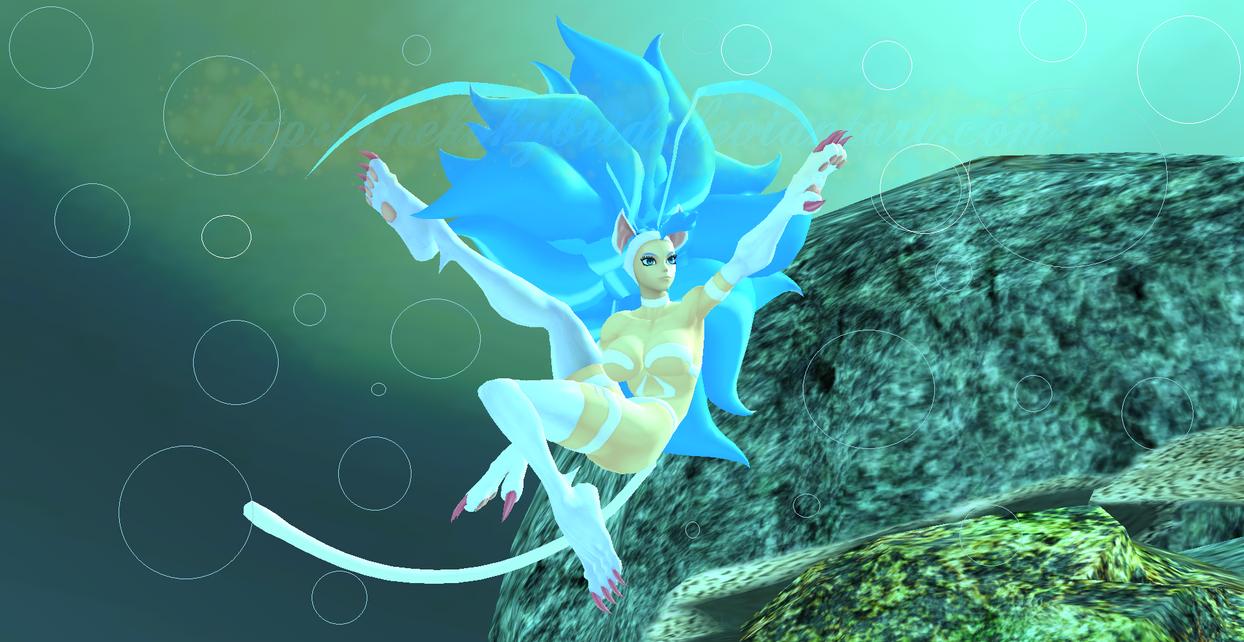 Felicia Underwater Swim by NekoHybrid