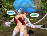 Felicia Gets a Surprise Glomp by NekoHybrid