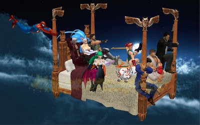 Felicia and Friends: Bedknobs and Broomsticks by NekoHybrid