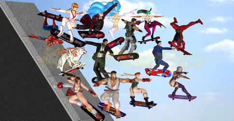 Felicia and Friends: Skateboard Jump