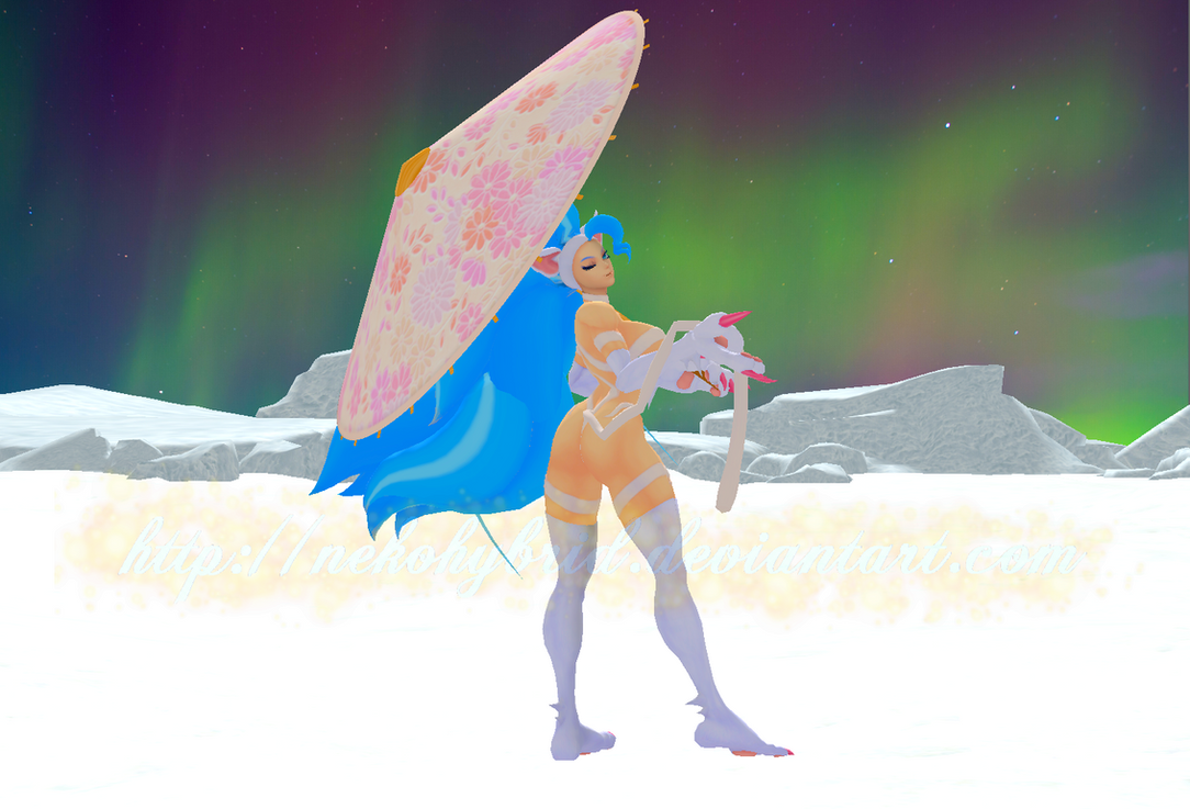 Felicia Aurora Umbrella by NekoHybrid