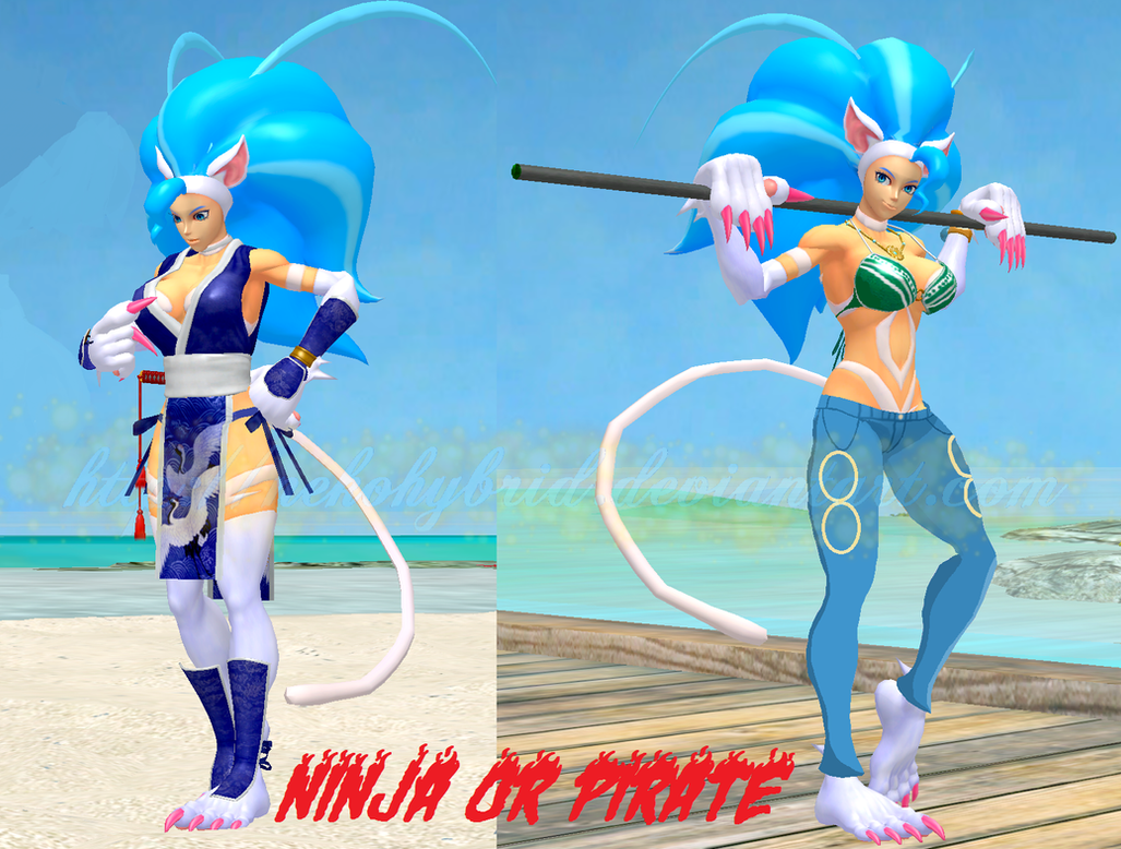 Felicia: Ninja or Pirate? by NekoHybrid