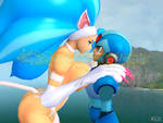 Felicia and Megaman X Request