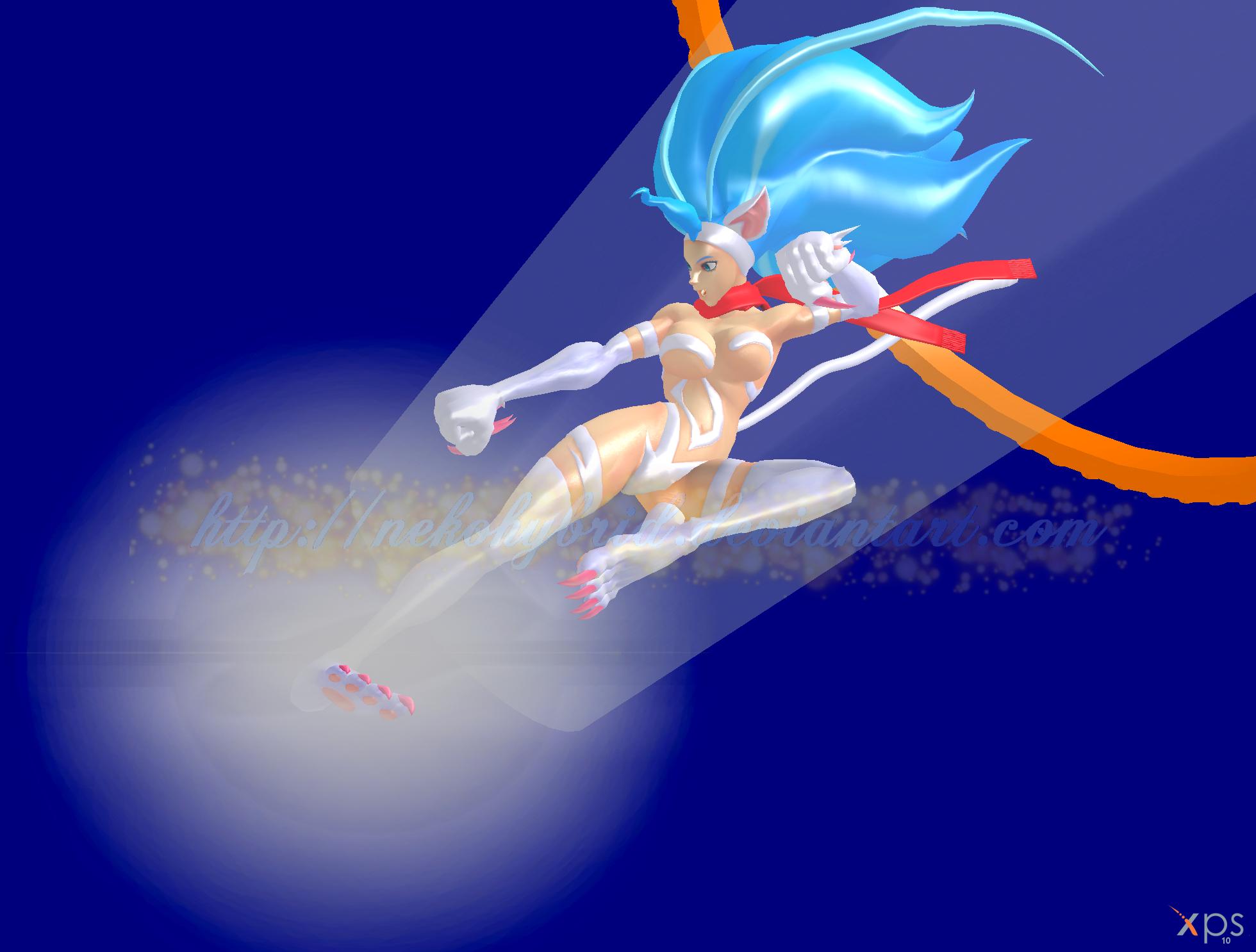 Felicia Rider Kick by NekoHybrid