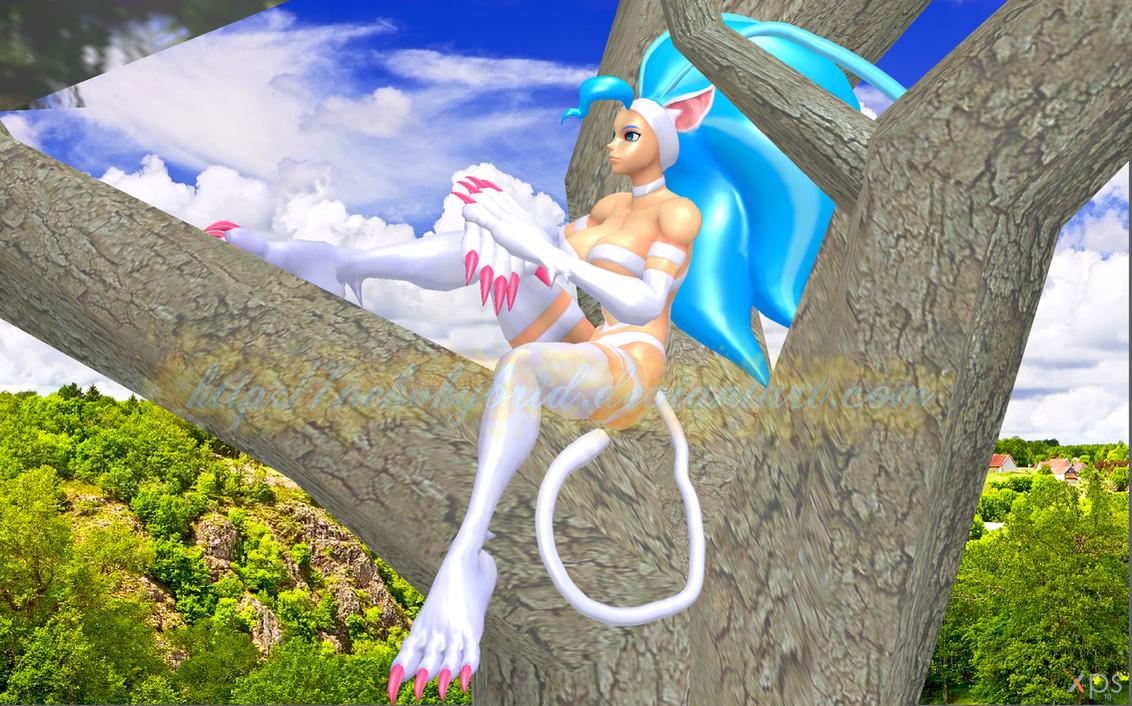 Felicia Sitting in a Tree by NekoHybrid