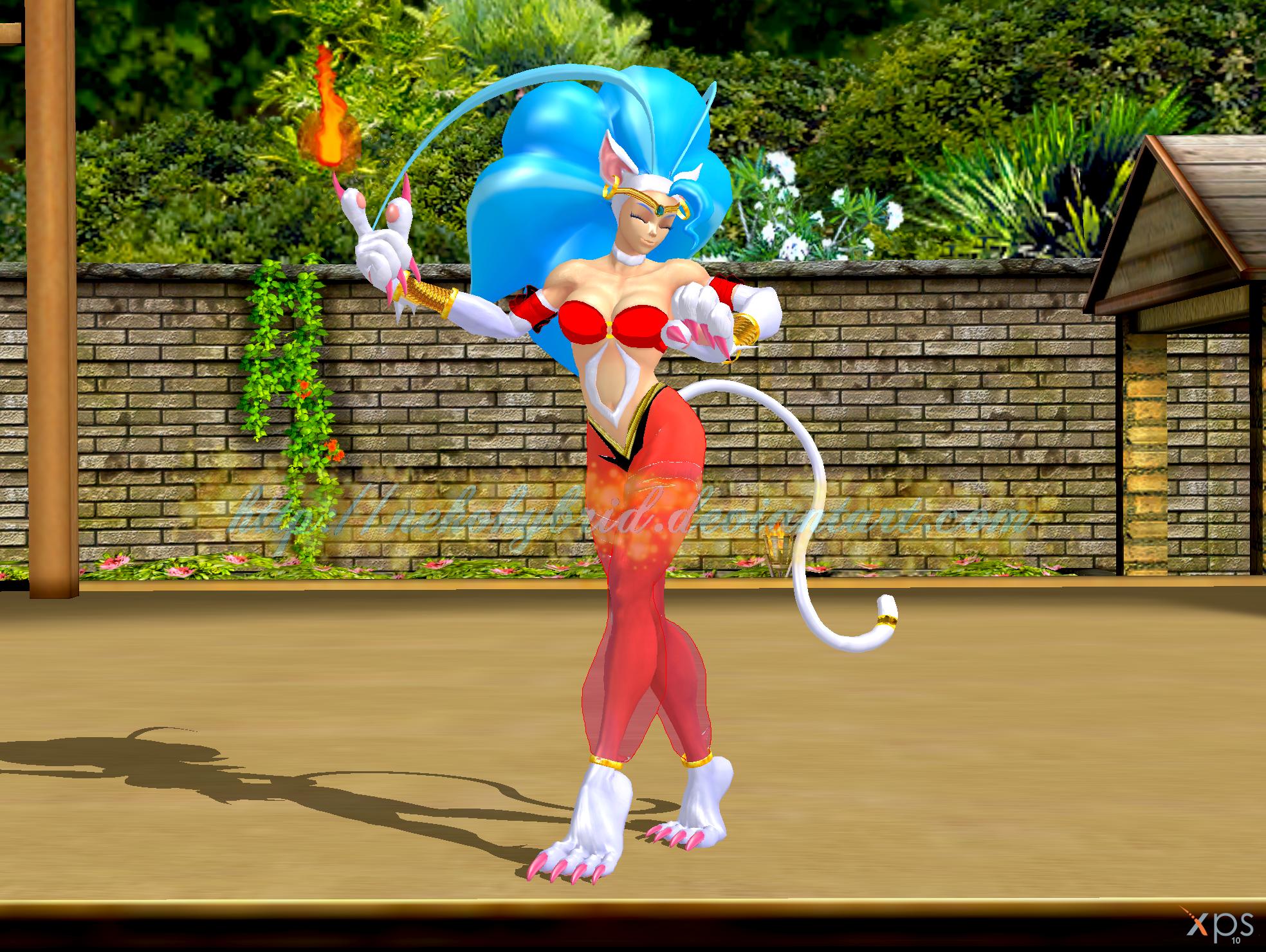 Halloween Dressup: Felicia as Shantae by NekoHybrid