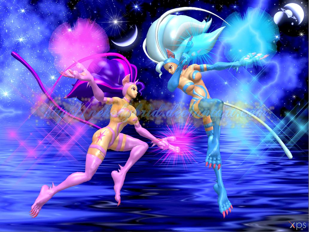 My Little Felicia: Twilight Sparkle vs. Trixie by NekoHybrid