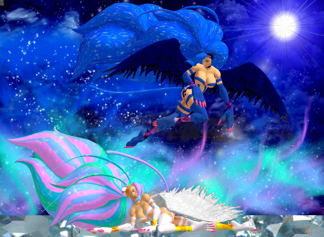 My Little Felicia: Celestia and Luna by NekoHybrid