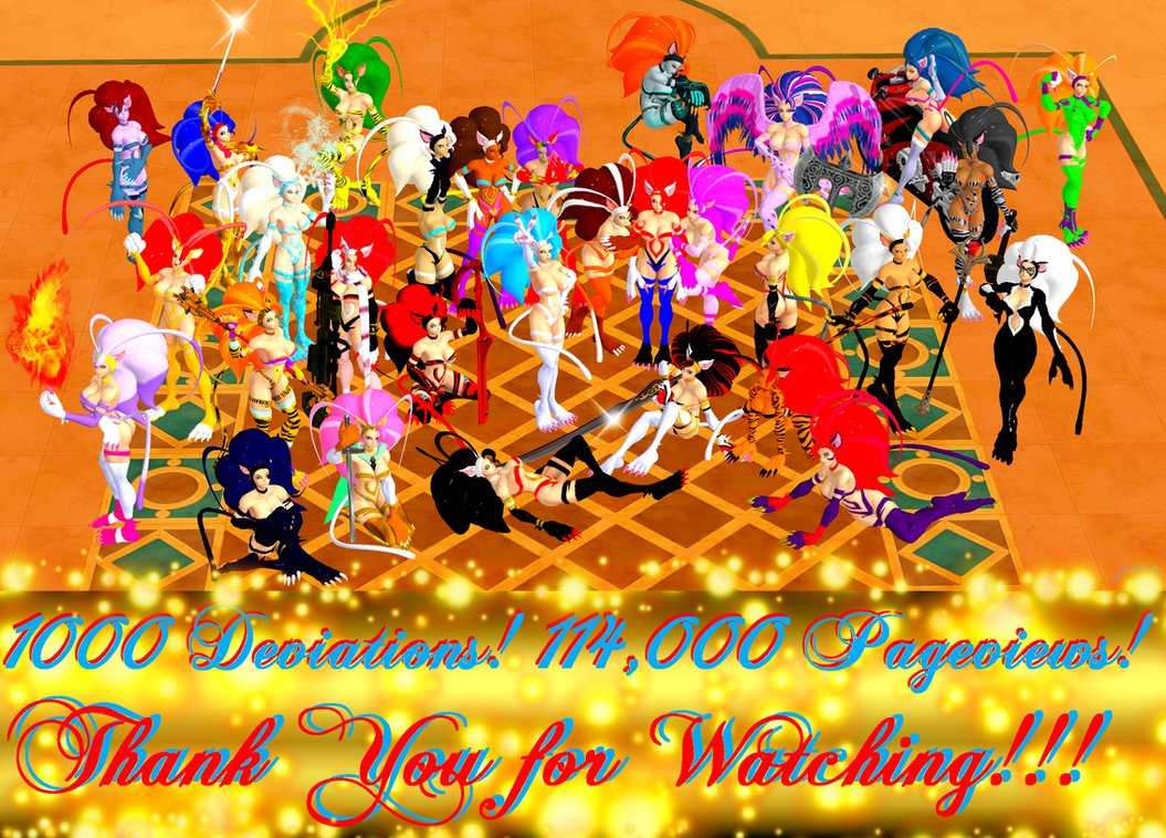 1000! Thank You for the 114,000 Views! by NekoHybrid