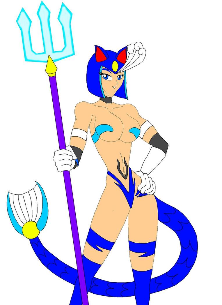 Capcom Cats: Splashwoman by NekoHybrid