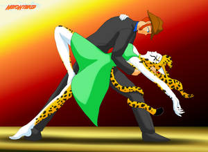 Commission: Dancing with Cheetah by NekoHybrid