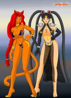 Commission: Dark Usagi and Neko Ranmachan by NekoHybrid