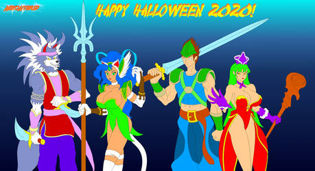 Darkstalkers Halloween 2020 by NekoHybrid