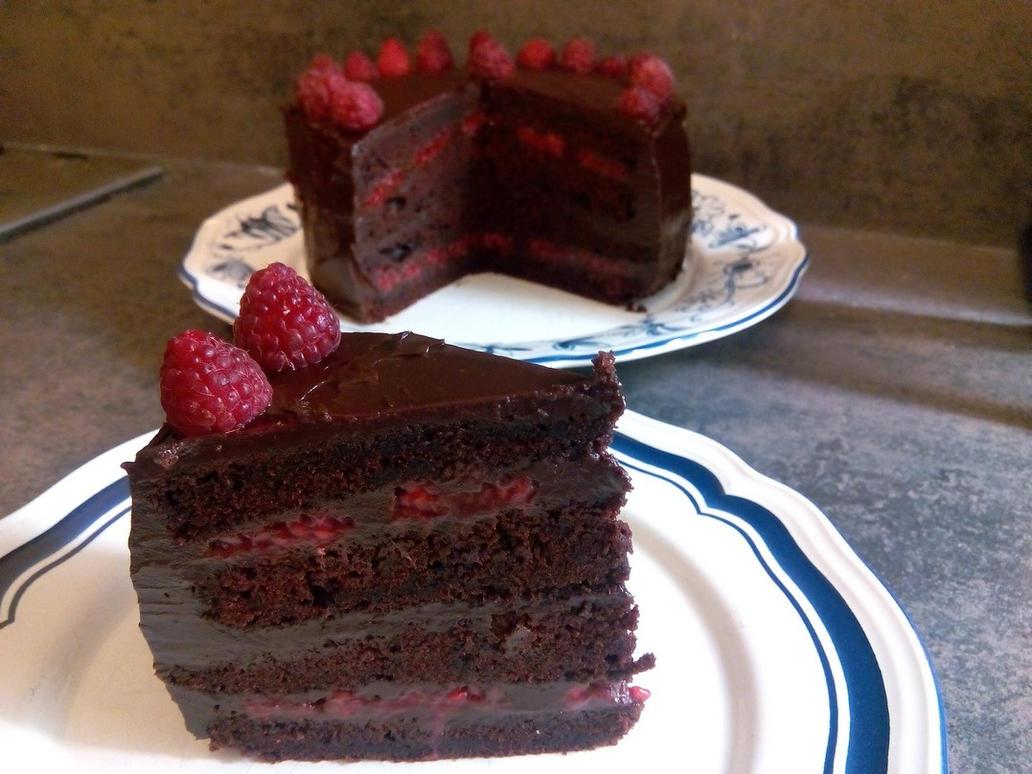 Raspberries Devil's Cake by Shelter2030