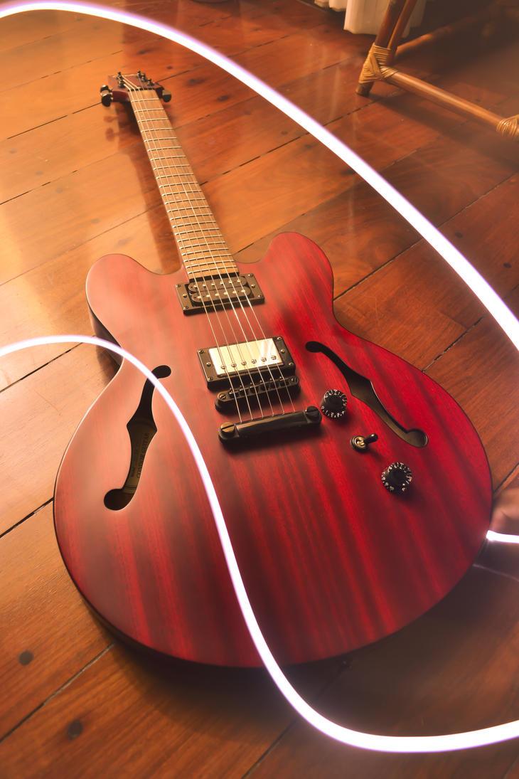 Semi Acoustic Guitar By Tadakatsukaw