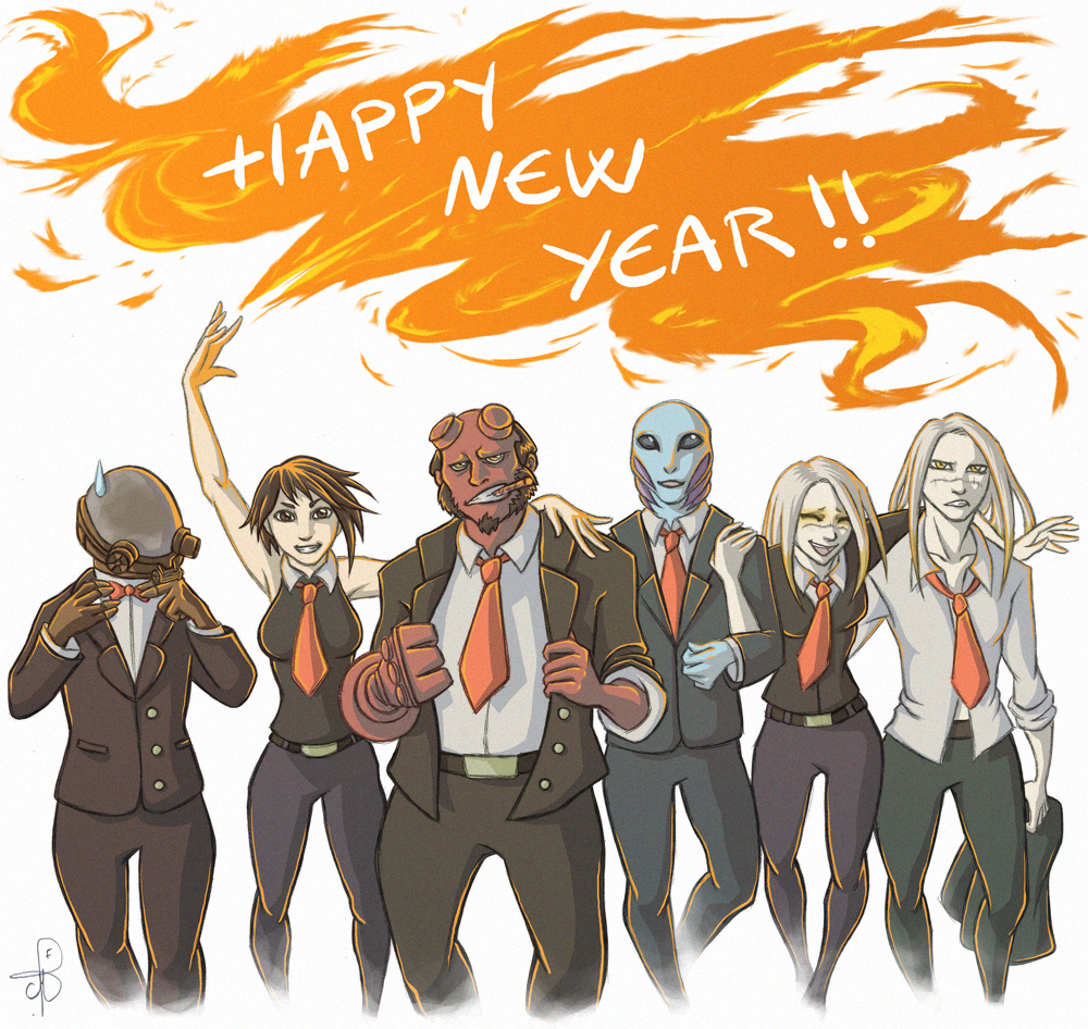 Me Gusta Funnies Happy New Year 2014: Nuada And Co :: 095 New Year By PrinceNuadaProject On