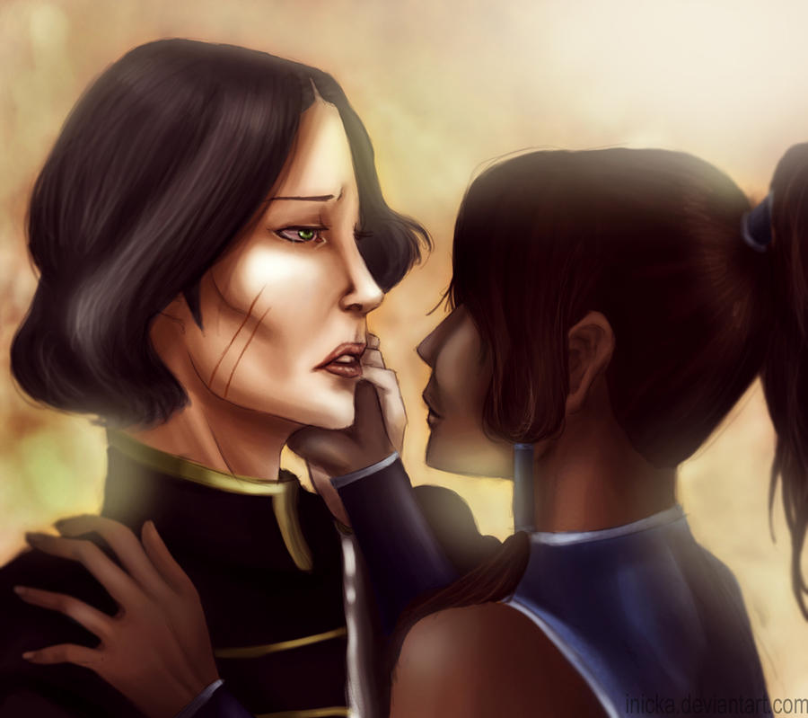 Legend Of Korra:Lin and Korra by inicka