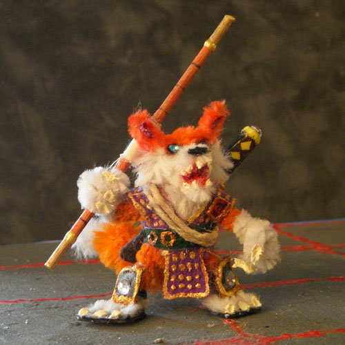 Kitsune Mini with Bo Staff by the-gil-monster on DeviantArt