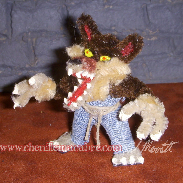 Werewolf Pipe Cleaner Miniature by the-gil-monster