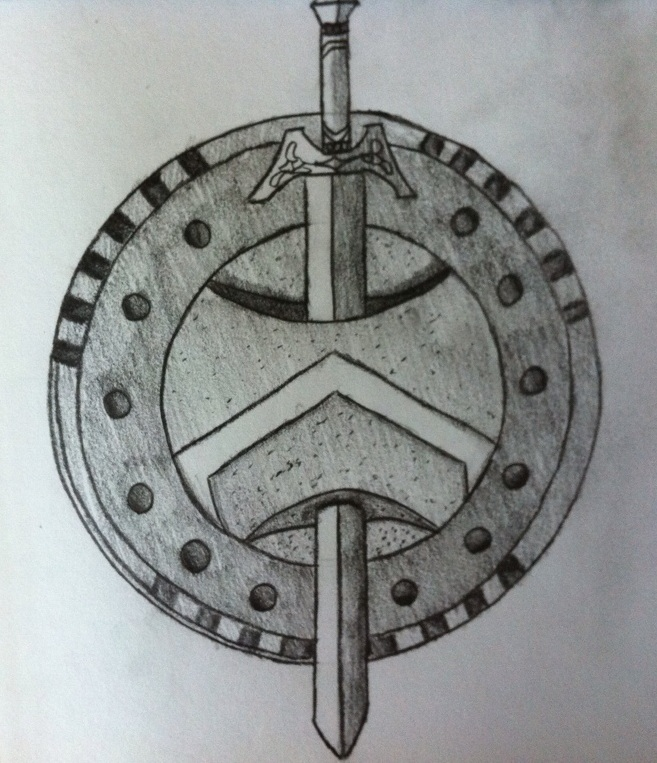 Spartan Sword And Shield Drawing | www.imgkid.com - The ...