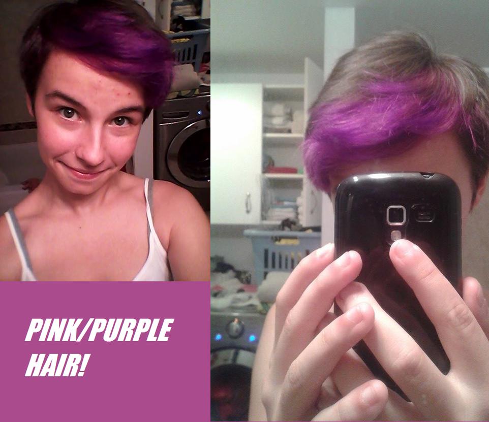 Pink/Purple Hair! by SammyKeyblade