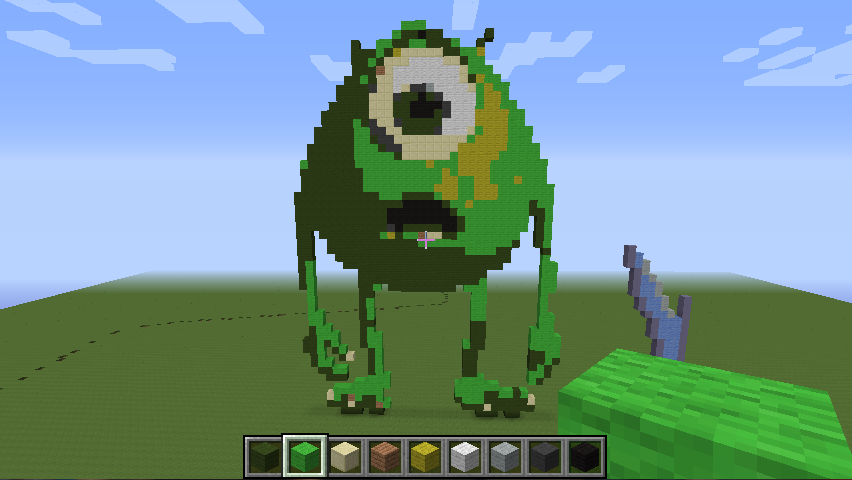 Monster Inc Minecraft Builds Kawaii