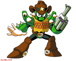 Mega Man Unleashed - PKN-003 Cactus Man by AlmKornKid