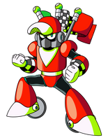Mega Man Unleashed - PKN-006 Race Man by AlmKornKid