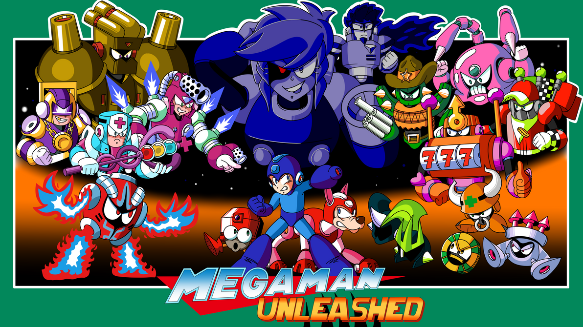 Mega Man Unleashed - Mock-Up Box-Art