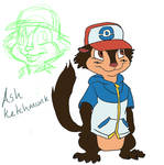 Ash Ketchmunk by LordWilt