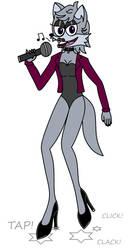 Diana Wolf alt leotard outfit.