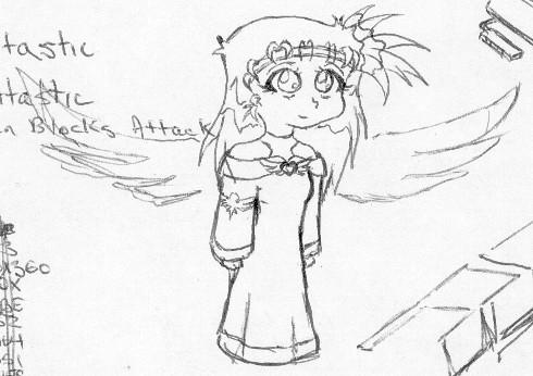 Techni Myoko, with angel wings by NeoTechni