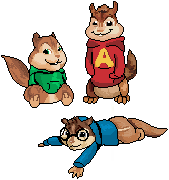 5. 6. and 7. Alvin, Simon and Theadore Seville. by ConkerTSquirrel
