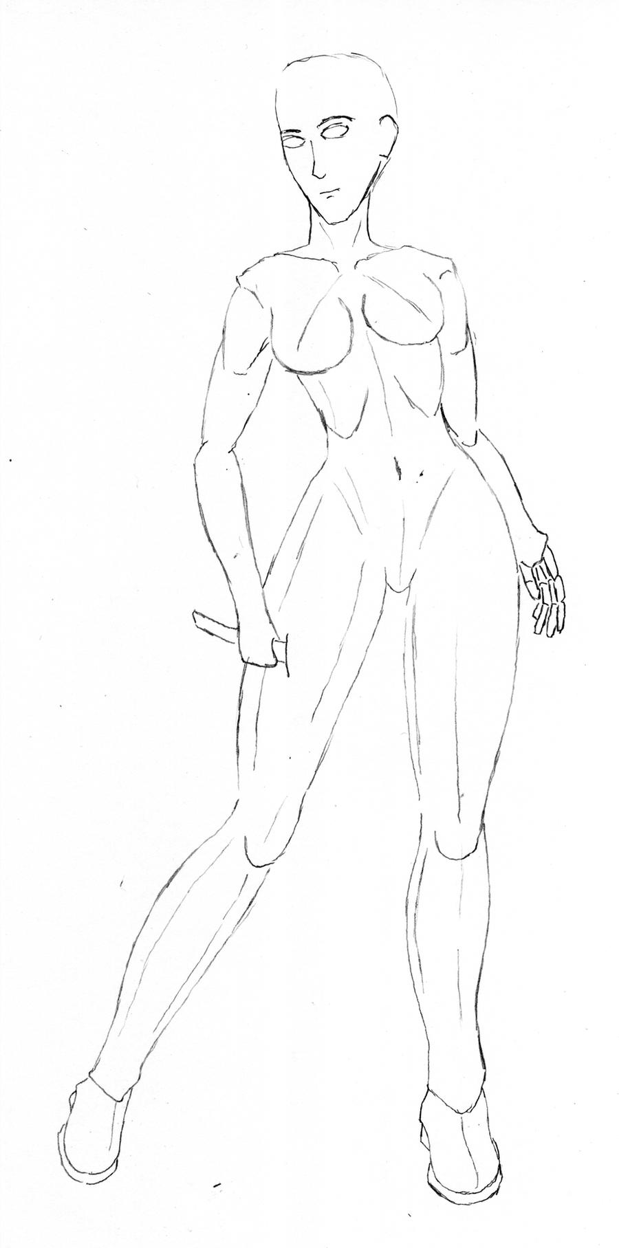 Female Base Drawing 01 by PyrZern
